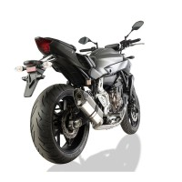 Laděný výfuk SPEEDPRO COBRA Full Systém Svody + koncovka CR2 HEXAGON high level Yamaha FZ-07