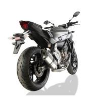 Laděný výfuk SPEEDPRO COBRA Full Systém Svody + koncovka CR2 Hexagon high Yamaha MT-07 + Tracer 2013-2016