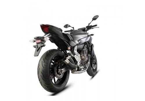Laděný výfuk SPEEDPRO COBRA Full Systém Svody + koncovka  Hypershots XL black high level Yamaha FZ-07