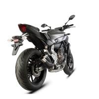 Laděný výfuk SPEEDPRO COBRA Full Systém Svody + koncovka Hypershots XL black high Yamaha MT-07 + Tracer 2013-2016