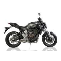 Laděný výfuk SPEEDPRO COBRA Full Systém Svody + koncovka Hypershots XL underengine Yamaha MT-07 + Tracer 2013-2016