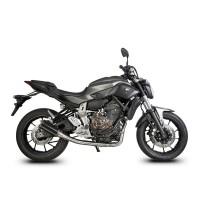 Laděný výfuk SPEEDPRO COBRA Full Systém Svody + koncovka SP1 carbon high Yamaha MT-07 + Tracer 2013-2016