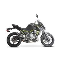 Laděný výfuk SPEEDPRO COBRA Full Systém Svody + koncovka SP2 carbon black underengine Kawasaki Ninja 650 2017-