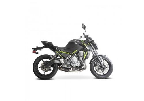 Laděný výfuk SPEEDPRO COBRA Full Systém Svody + koncovka SP2 carbon black underengine Kawasaki z 650 2017-