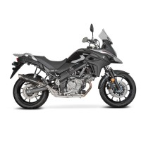Laděný výfuk SPEEDPRO COBRA Full Systém Svody + koncovka SP2 carbon Suzuki V-Strom DL 650 2017